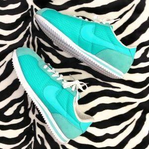 Aqua Blue Nike Cortez